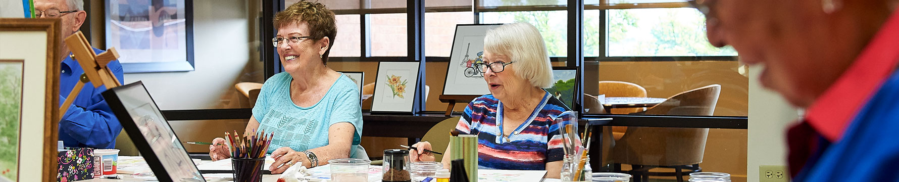A group of Beacon Hill residents taking an art class